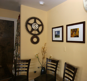 Extra large metal wall clock.